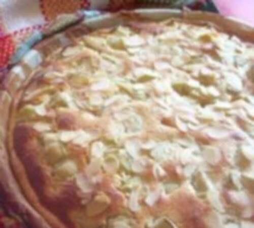 Recete de cuisine : Tarte à la rhubarbe et aux amandes