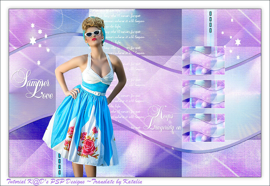 Tutorial - K@D's Psp Designs - Summer Love