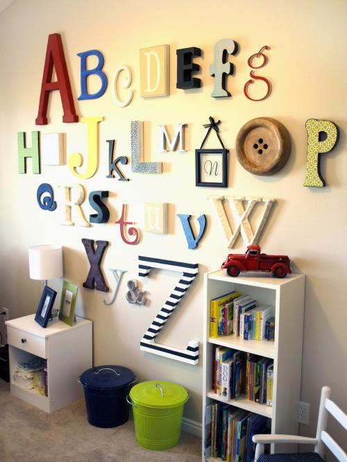 Idée Déco 11 : Les lettres
