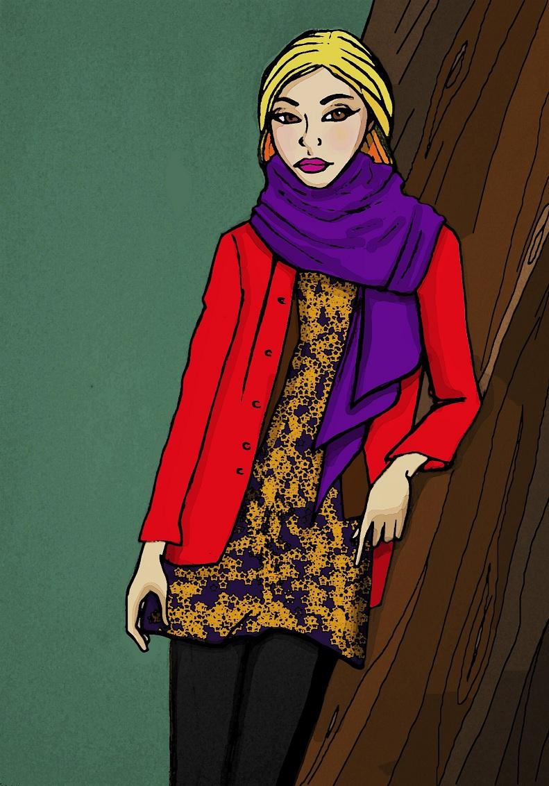 tenue colorée, automne