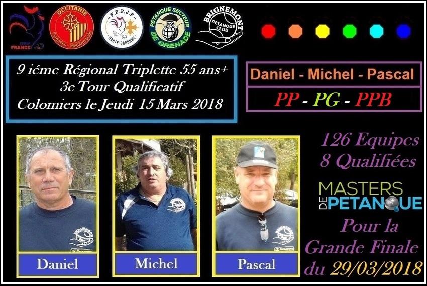 9 ième Régional Triplette 55 ans+ à Colomiers (Master challenge du Souvenir)
