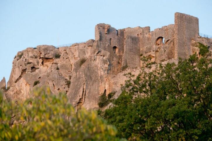Photos-Villes du Monde 3:  Les Baux-de-Provence: château, calcaire et lumière