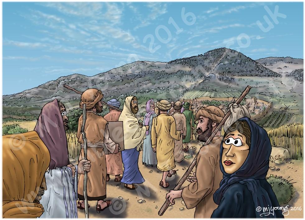 Luke 07 - Jesus raises a widow's son - Scene 01 - Approaching Nain LIGHTER