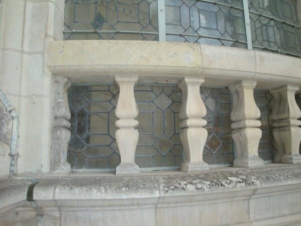 Chambord, les terrasses du château.9g