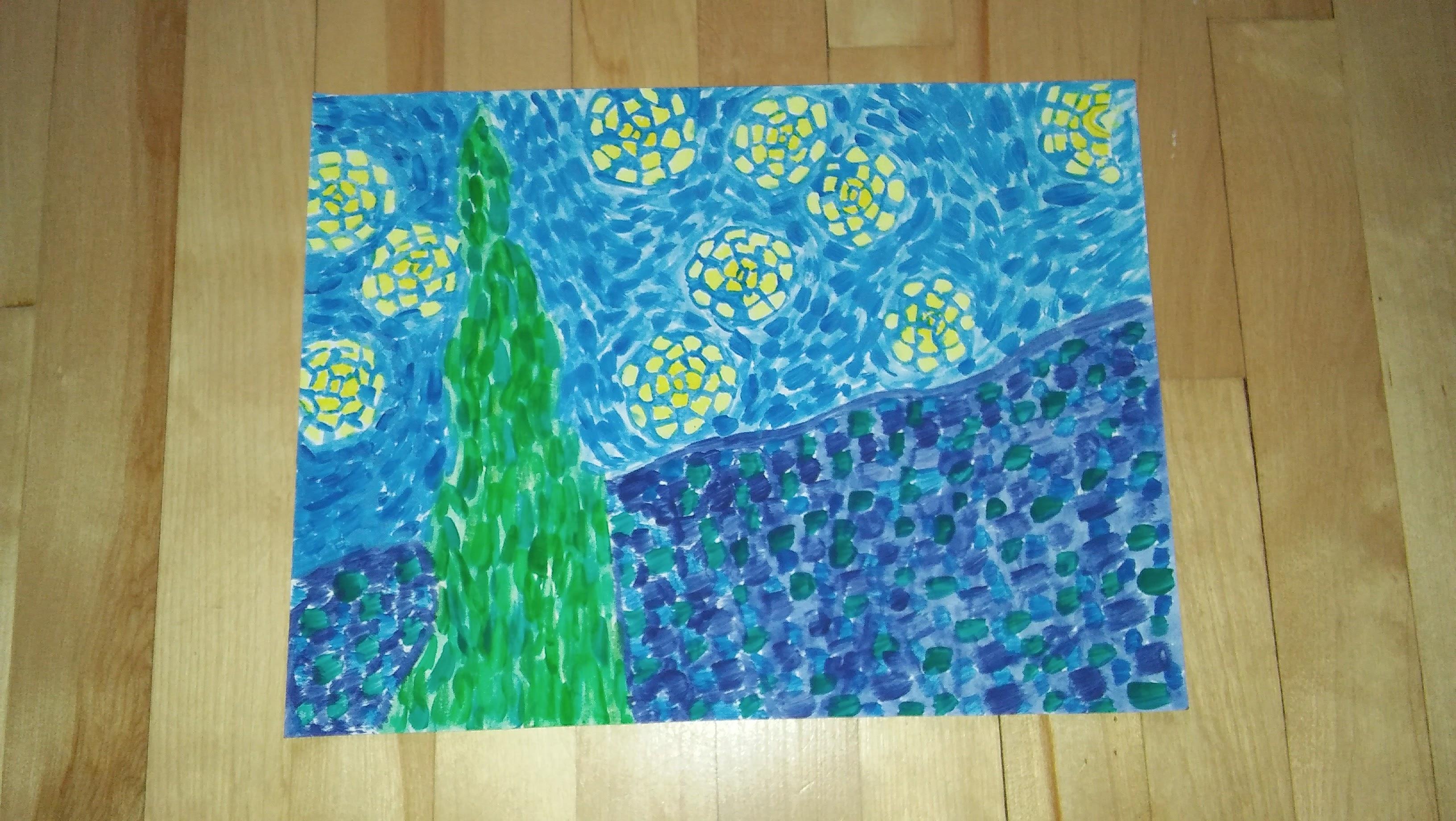 Hervorragend La nuit étoilée de Vincent Van Gogh - Céline à l'école HR72