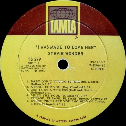 """Stevie Wonder : Album """" I Was Made To Love Her """" Tamla Records TS 279 [ US ]"""