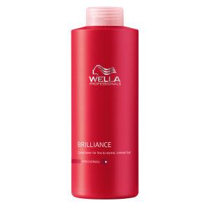 Wella Professionals Brilliance après-shampooing cheveux fins et colorés (1000ml)
