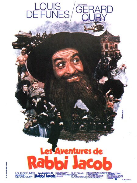 LES AVENTURES DE RABBI JACOB - BOX OFFICE LOUIS DE FUNES 1973