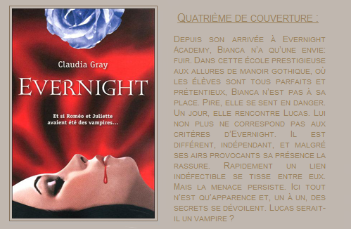 « Evernight : tome 1 » de Claudia Gray.