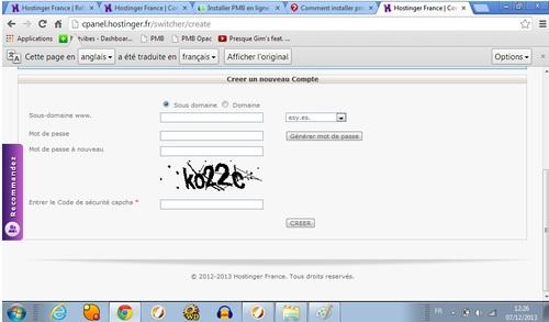 Installer PMB en ligne