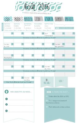✿ Un mois d'août organisé {calendrier à imprimer}