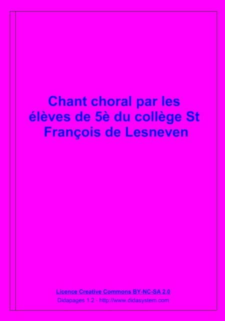 Chant choral avec les 5èmes du collège St François