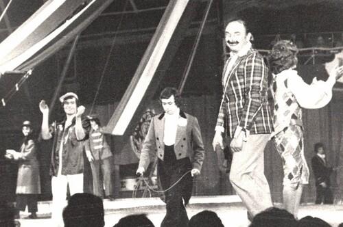 final du spectacle  de 1977 du cirque Jean Richard