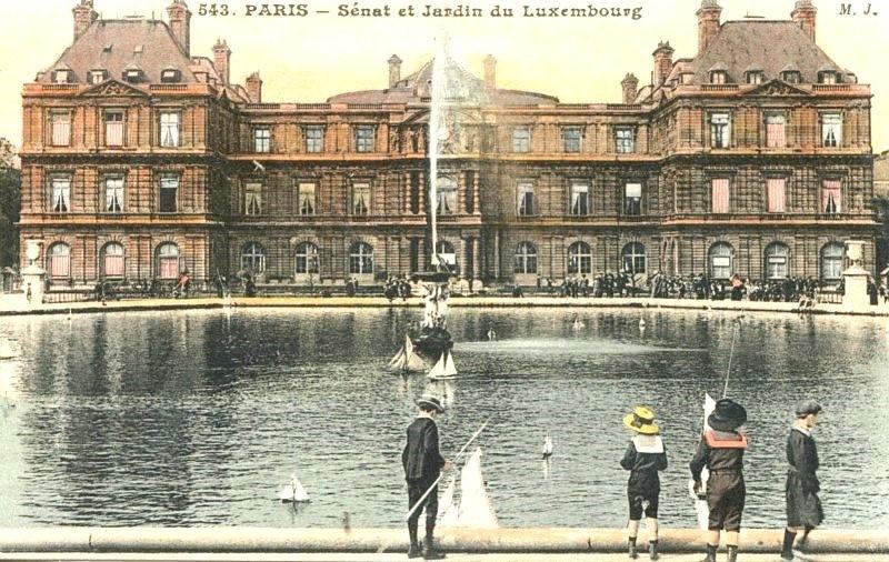 Les Bateaux Du Jardin Du Luxembourg 7 Cpa Colorisees Nos