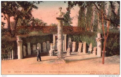 Le buste du Duc d'Orléans à Sétif