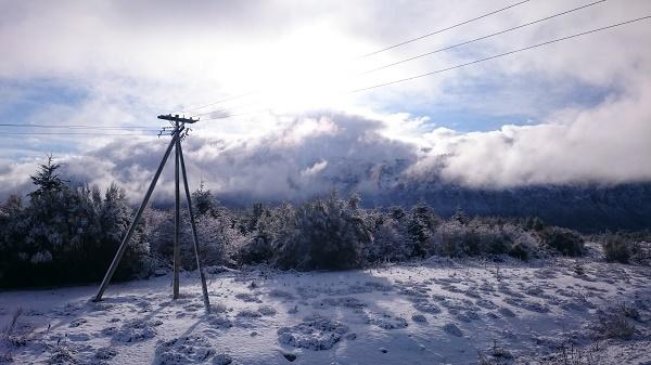paysage eneigés à la sortie de Bariloche