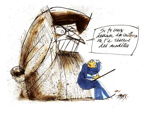 Pour avoir dessiné Adam (vêtu), Doaa El Adl, dessinatrice égyptienne, est poursuivie ...