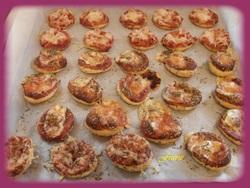 Un panaché de minis pizzas