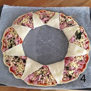 Pizza soleil pas à pas