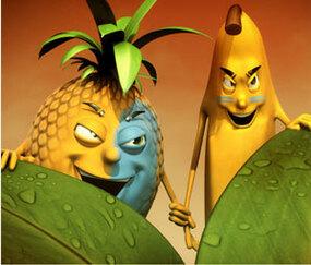 Bananes et Ananas Flambés