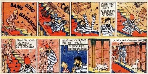 Tintin AVG en couleurs dans Coeurs Vaillant