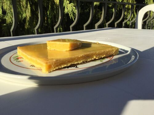 Cake dans l'esprit d'une tarte au citron ..Michalak
