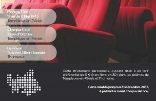 Nouveau ! Bénéficiez d'entrées au cinéma de Thumeries à 5€ toute l'année
