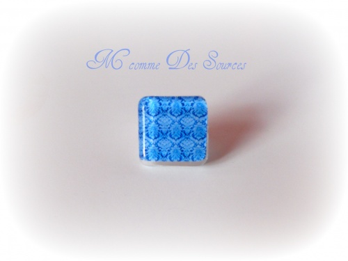 Bague arabesque bleue