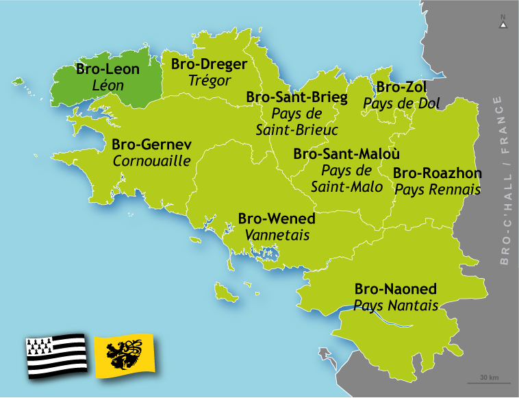 Résultat d'images pour carte des régions bretonnes, Léon