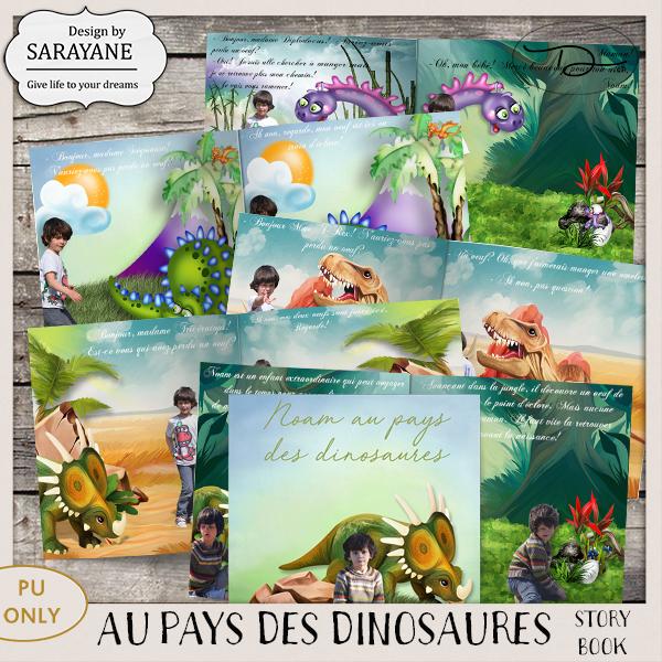 Mon livre d'histoire Au pays des dinosaures {PU/S4H} de Sarayane