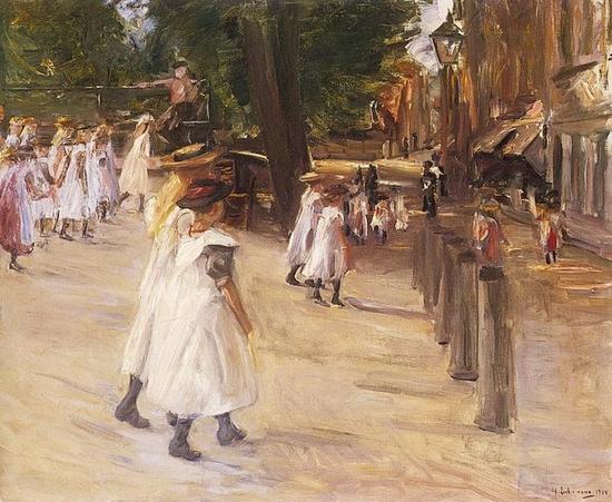 Max Liebermann, Sur le chemin de l'école à Edam