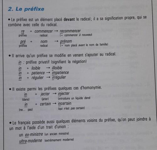 A / Les préfixes