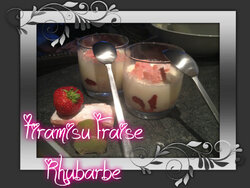 Tiramisu Fraise Rhubarbe