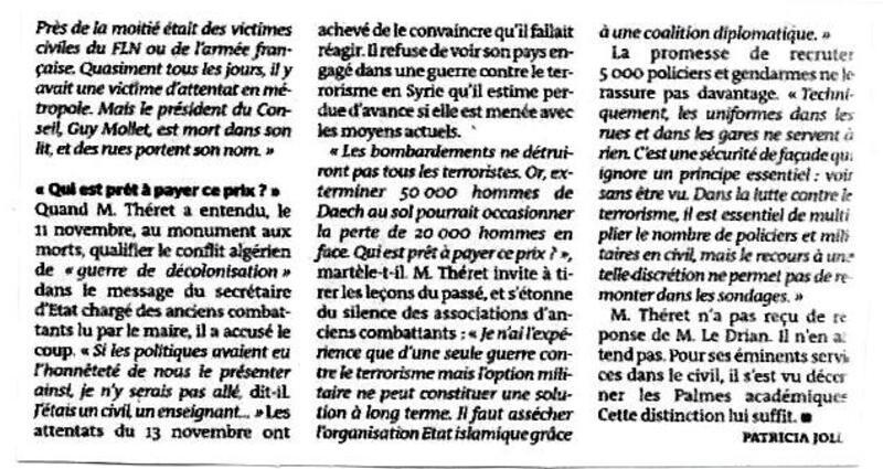 Un ancien combattant d'Algérie rend sa décoration à Le Drian