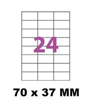 100 PLANCHES DE 24 étiquettes d'adressage 70x 37.1 mm - pour impression de timbre sur le site de La Poste MonTimbrenLigne.- etiquette 70 x 37.1 mm angle vif