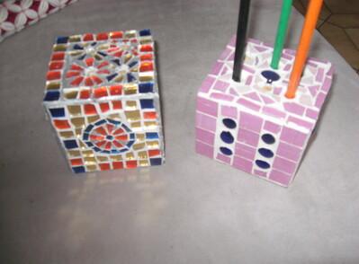 Avec les cubes des palettes