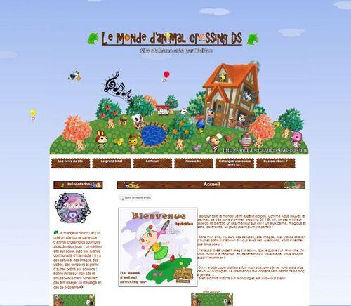 Capture d'écran du Monde d'animal crossing par dididou