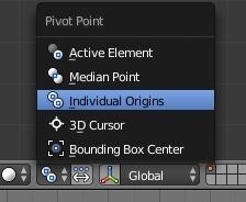 Choisir Individual Origins comme point de pivot