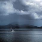 Pluie sur le sud (depuis Schoelcher) - Photo : Caro