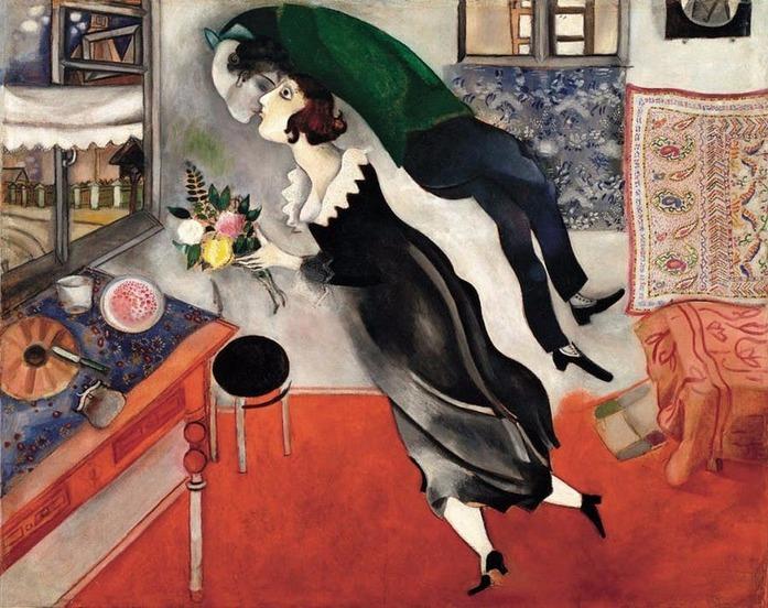 Le baiser le plus acrobatique de l'histoire de l'art : Marc Chagall, L'anniversaire, 1915
