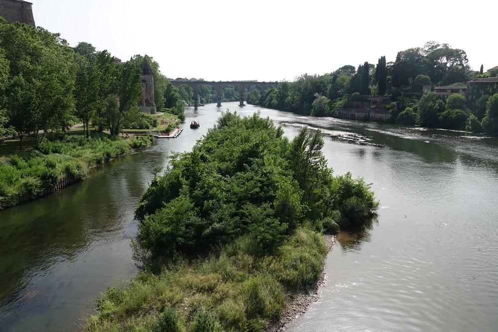 Albi : les jardins du Palais de la Berbie et les bords du Tarn...