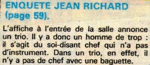 enquête de Jean Richard n° 23