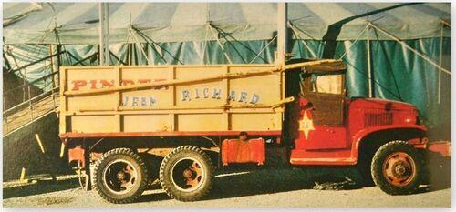 divers souvenirs du cirque Pinder Jean Richard de 1972