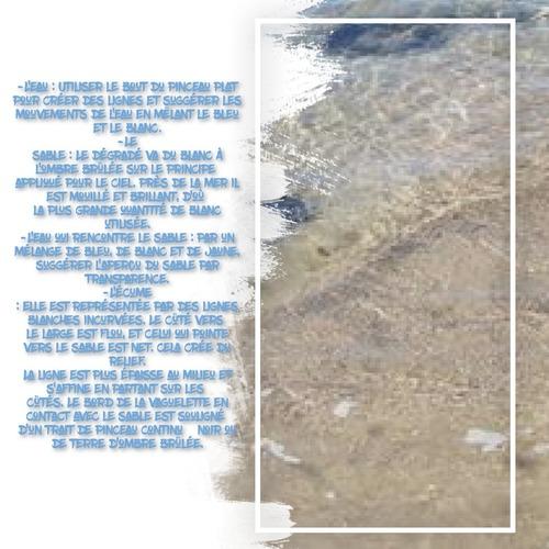 Dessin et peinture - vidéo 3301 : Comment peindre les dernières vaguelettes sur le rivage ? - acrylique ou huile.