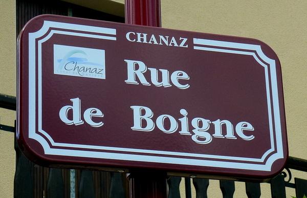 Chanaz, la maison rue de Boigne...