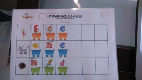Le train des alphas 1, voyelles et consonnes longues
