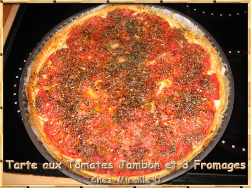 Tarte aux Tomates Jambon et 3 Fromages