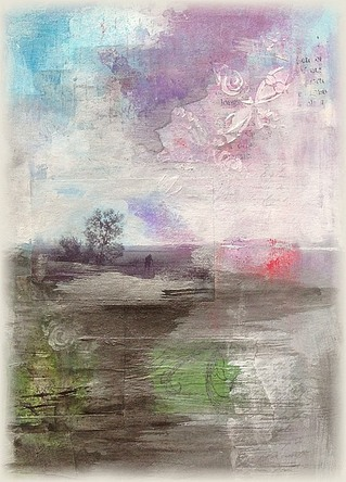 Paysages imaginaires - mixed media