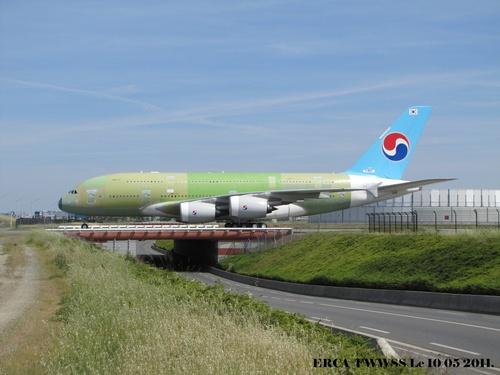 Airbus A 380 Sur le pont d'