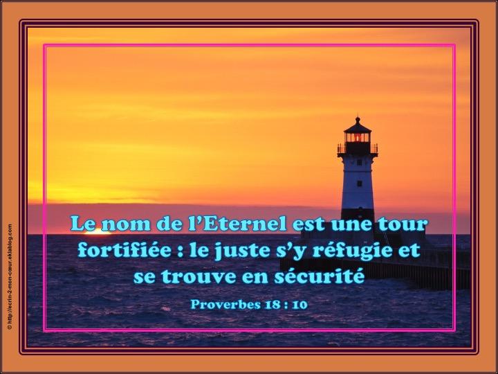 Le nom de l'Eternel est une tour fortifiée - Proverbes 18 : 10